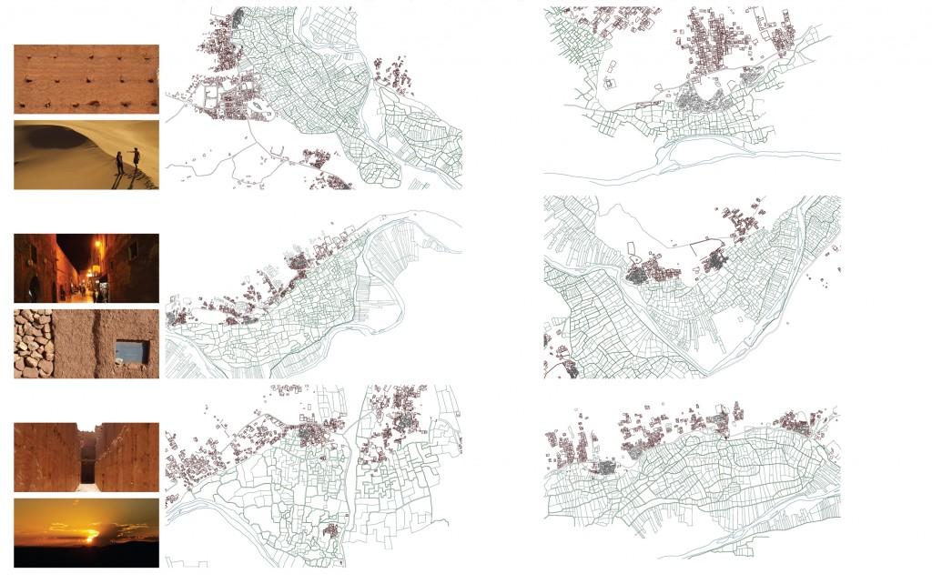 Estructura urbana de poblaciones en el Valle del Draa