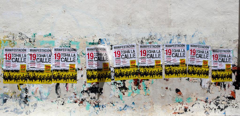 Carteles Manifestación #19j. Toma la calle. Democracia Real Ya.01 by José Mesa vía Flickr