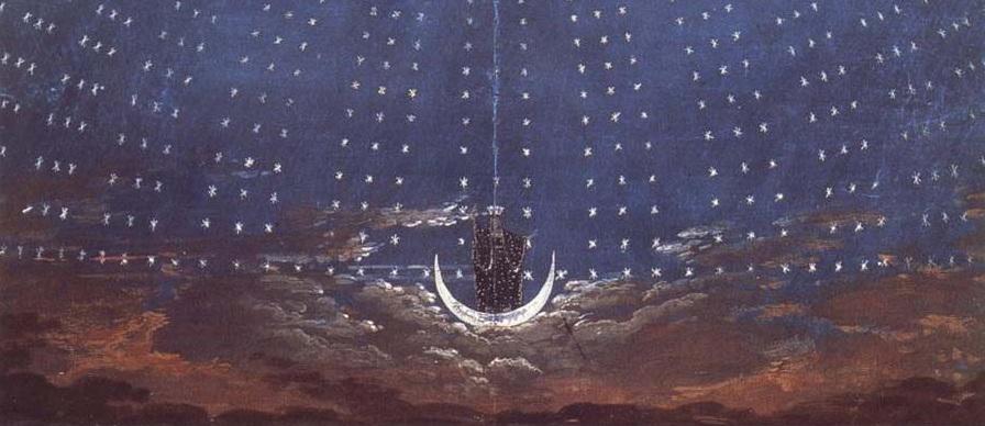 Karl f schinkel - la flauta mágica - el palacio de la reina de la noche 1815 2