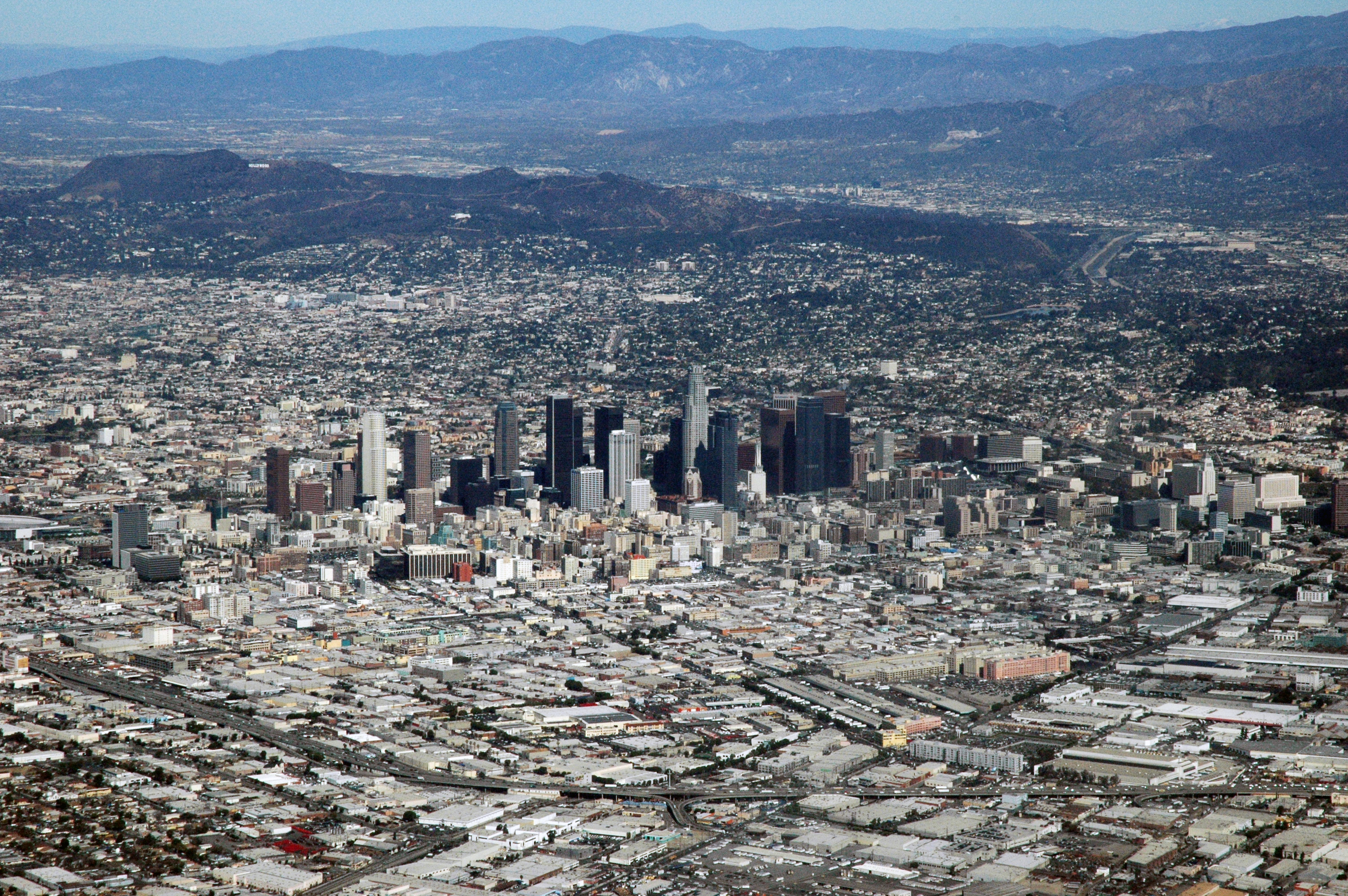 Los Angeles, CA from the air by Marshall Astor from San Pedro, United States