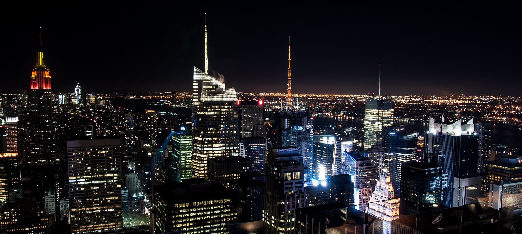 NYC night view by Iván Lara vía Flickr