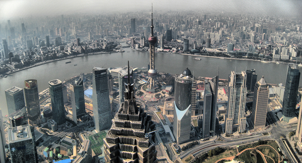 Shanghai view from SWFC by Joan Campderrós-i-Canas in flickr