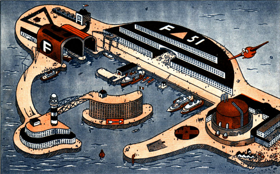 Estación intermodal oceánica en el episodio Un poursuivant acharne
