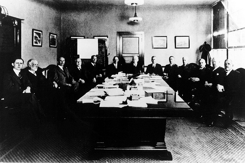The members of the Main Committee of NASA which met in Washington, D.C. on April 18, 1929 . Rights: NASA on the Commons