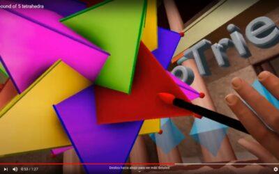 Compuesto de 5 tetraedros