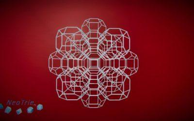 Teselación 3d con octaedros truncados